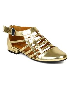 Oliver-11 Strappy Flats In Gold - Google Search