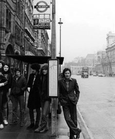 phil lynott, robert plant and eric clapton (waiting the bus)