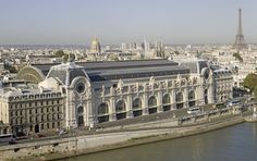 Musée d'Orsay //  On the left bank of the Seine and a five-minute stroll from the Tuileries gardens, the building pays homage both to its history and to its relatively recent re-incarnation.  The station's architect Victor Laloux built stone facades in the Beaux-Arts style to blend with the architecture of the nearby Louvre and Tuileries Gardens while hiding the metal structure of the station; two giant clocks make an impressive feature, adding to the sense of grandeur.