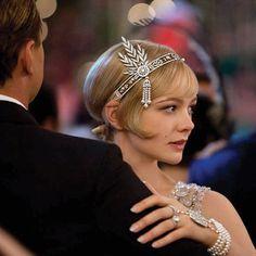 SALE 20% off Great Gatsby Inspired Bridal Headpiece, Daisy Buchanan roaring 20's headband, flapper headpiece,rhinestone wedding tiara,bridal