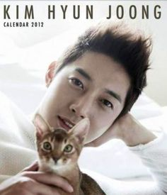Kim Hyung Joong and kitties all together in one calendar? Best day ever!