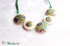 Meska - Colorful nyaklánc, medál süthető gyurmából Rdesign kézművestől