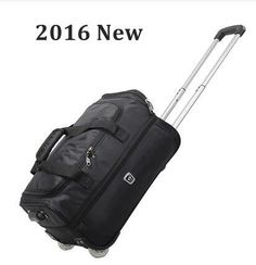 "[Visit to Buy] 2016 brand Travel Trolley luggage Bag Cabin Hand Luggage 20"" 40L 22""inch 50L Rolling Duffle Waterproof Oxford Suitcase On Wheels #Advertisement"