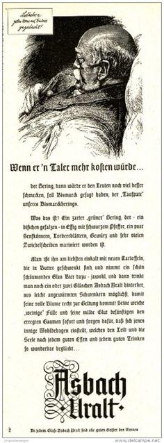Original-Werbung/ Anzeige 1958 - ASBACH URALT /  BISMARCK - ca. 60 x 200 mm