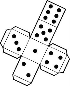 9 sided dice template with dots