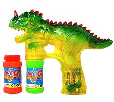 Toysery Dinosaur Bubble Shooter Gun Light Up Bubbles Blower with LED Flashing Lights and Sounds Dinosaur Toys for Kids, Boys and AA Batteries Included Dinosaur Toys For Kids, Dinosaur Gifts, Dinosaurs, Dinosaur Dig, Toddler Toys, Kids Toys, Easter Baskets For Toddlers, Bubble Birthday Parties, 3rd Birthday
