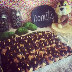 Acorn Donuts for Chip 'n' Dale Birthday Party