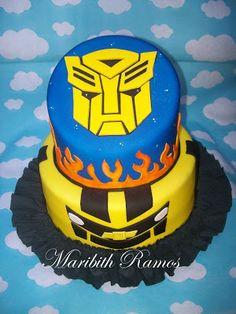 Transformers Birthday Party Themes, Boy Birthday, Birthday Cake, Rescue Bots Cake, Transformers Birthday Parties, Fiesta Cake, Transformer Birthday, Rice Krispies, Oreo