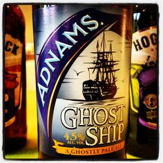 Adnams Ghost Ship - 4.5% ABV - a ghostly pale ale - assertive pithy bitterness with a malty backbone and a lemon and lime aroma