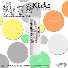Bálsamo Labial Kids PuroBio 04  Protección ultra suave algodón de azuzar!!