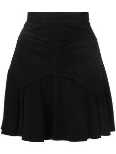 CHLOÉ Suede Embroidered Seam Skirt. #chloé #cloth #skirt