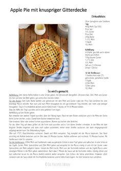 Lattice Apple Pie - Apfelkuchen mit knuspriger Gitter Decke