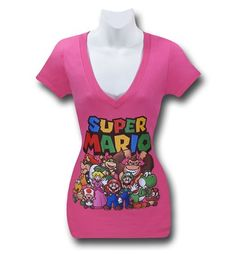 Images of Mario Group Women's Pink T-Shirt