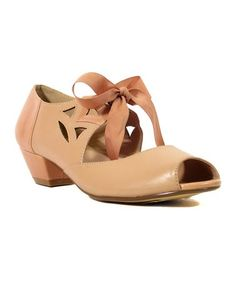 Chelsea Crew--thanks for that BIG BOW!! Loving this Pink Cutout Sonia Pump shoes on #zulily! #zulilyfinds