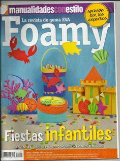 manualidades en foamy para fiestas infantiles