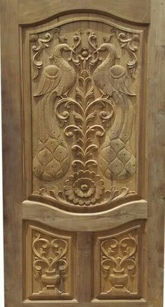 Ideas Wood Gosspo Industrial Co Limited Main Door Carving Wood Design Photos Proinsarco Single Main Door Designs, House Main Door Design, Home Door Design, Temple Design For Home, Wooden Main Door Design, Double Door Design, Pooja Room Door Design, Door Gate Design, Door Design Interior
