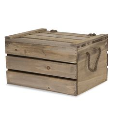 Antique Light Brown Wooden Crate Storage Box with Lid Med Lucky Clover Trading is a wholesale baskets distributor and importer of baskets wholesale through a wholesale gift basket suppplies company. Wooden Crates With Lids, Wood Crates, Wood Boxes, Storage Boxes With Lids, Crate Storage, Basket Shelves, Storage Baskets, Gift Baskets, Kids Toy Chest