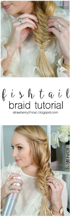 Finally! A super easy tutorial on how to fishtail braid your own hair.