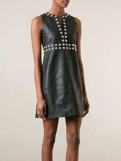 Saint Laurent Vestido Corto Con Apliques - Stefania Mode - Farfetch.com