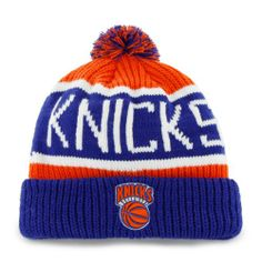 New Yorks Knicks Pom Knit Cap Beanie - http://bignbastore.com/nba-winter-attire/new-yorks-knicks-pom-knit-cap-beanie