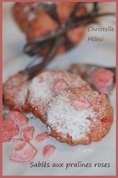 Sablés aux pralines roses