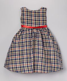 Another great find on #zulily! Gray & Red Plaid A-Line Dress - Infant, Toddler & Girls by Kid Fashion #zulilyfinds