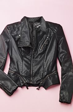 Will wear this faux leather jacket over a cute body-con dress or with distressed denim for a little added attitude.