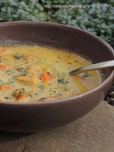 Soupe de moules au safran