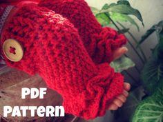Crochet pattern Crochet ruffles leg warmer by Thehobbyhopper, $4.50