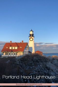 Looking to visit Maine's oldest lighthouse? Take a trip to Cape Elizabeth, Maine for a slice of history at Portland Head Lighthouse. #Maine Cape Elizabeth Maine, Maine New England, Tower Stand, Visit Maine, Casco Bay, On A Clear Day, Fort William, Travel Usa, Lighthouse