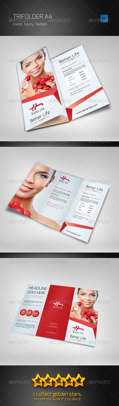 Spa Beauty Centre Tri Fold Brochure Template - Dlayouts Graphic