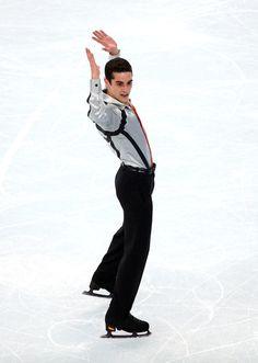 Javier Fernandez of Spain comptes during the Figure Skating Men's Free Skating on day seven of the Sochi 2014 Winter Olympics at Iceberg Ska...