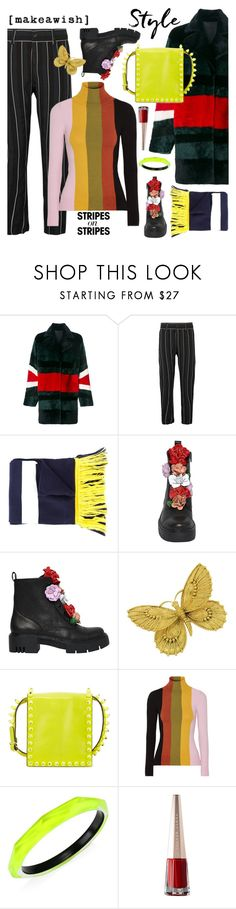 """""""Pattern Challenge: Stripes on Stripes"""" by esch103 ❤ liked on Polyvore featuring Drome, Haider Ackermann, Puma, Valentino, JoosTricot, Alexis Bittar, stripesonstripes and PatternChallenge"""