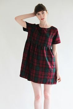 Plaid print and oversize