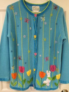 Quacker Factory Easter Sweater Womens  Size Small  #QuackerFactory #Easter #sweater