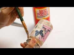 How to Upcycle Glass Jars - Decoupage DIY Tutorial - YouTube