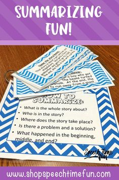 Summarizing Fun for