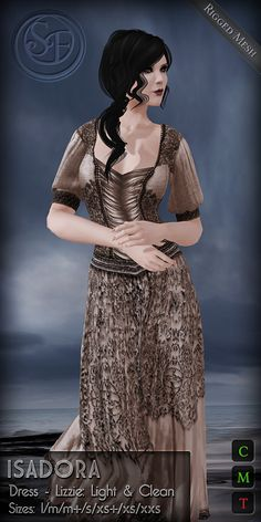 New Special edition of Isadora Dress created for  Flawless: Frightful & Delightful Cart Sale & Hunt which starts Oct 16th