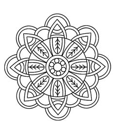 Mandala Coloring Pages Doodle Book Adult Colouring Pattern Drawing Projects Colorful Drawings