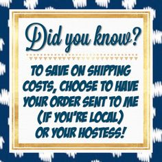 Did you know you can save on shipping your Thirty-One order by choosing to have it delivered to your hostess or me? #bagladyrules