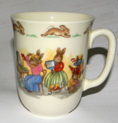 Vintage Royal Doulton Mug Bunnykins Beatrix Potter by FeliceSereno, $15.00