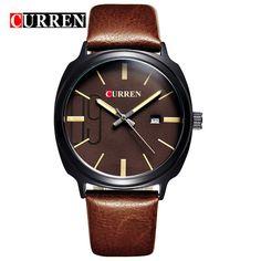 Curren Homens Marca de Topo Relógios de Luxo Calendário Relogio masculino  Homens Relógios de Pulso de Quartzo Esportes dos homens 8212 - d8cda72c5b