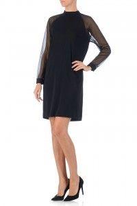 Mooie recht vallende jurk voor het niet benadrukken van een eventuele buik. Transparent Sleeve Dress