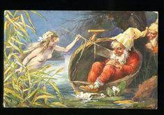 Dream Gnome Elf Nude Nymph Mermaid by Brunner Vintage