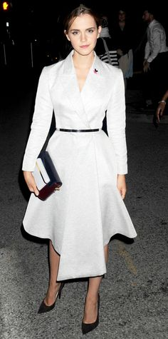 Look of the Day - September 22, 2014 - Emma Watson in Dior from #InStyle