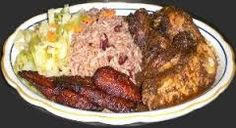Jamaican Jerk Chicken with Rice. Negril has some delightful places to eat. Ask at www.villassurmer.com boutique resort.