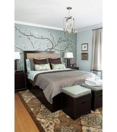 So love these colors.....Bedroom design ideas - Home and Garden Design Ideas
