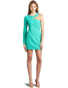 BCBGeneration Women's One Sleeve Cut Out Dress  Mint Green  SmallFrom #BCBGeneration List Price: $88.00Price: $67.99