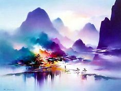 Landscape paintings by Hong Leung