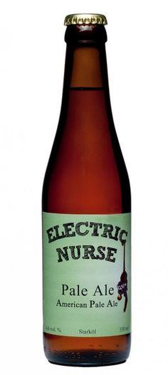Cerveja Electric Nurse Pale Ale, estilo American Pale Ale, produzida por Brewtrade Sweden, Suécia. 4.6% ABV de álcool.
